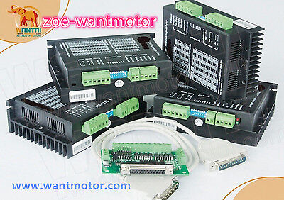 New!USA Ship Free!4Axis Wantai Stepper Motor Driver DQ542MA 50V 4.2A 128Microste