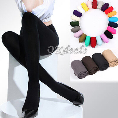 Women Colorful 8 Colors 120D Opaque Pantyhose Tights Socks Footed Stockings Gift
