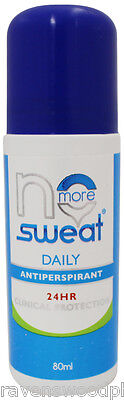 No More Sweat DAILY Antiperspirant Roll On 80mL ::24 Hour Clinical Protection::