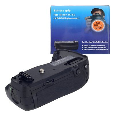 Vertical Battery Grip NE-EL15 6 AA Battery Power Pack/Grip for Nikon D750 MB-D16