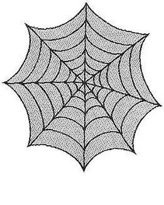 """Halloween Heritage Lace - 30"""" Black Lace Spider Web Table Topper"""