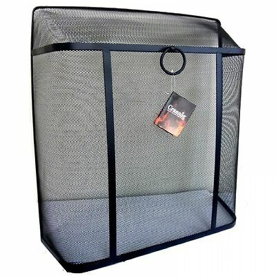 Large Square Top Black Safety Fire Spark Guard Fireplace Cover Mesh Metal Screen