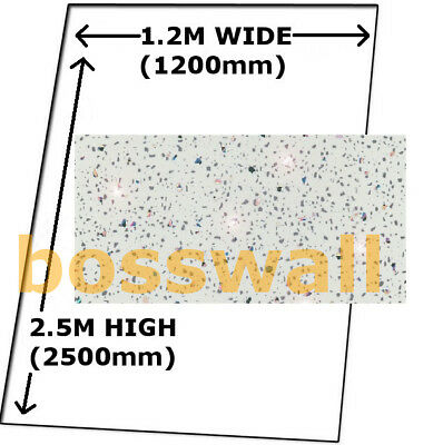 Cladding White Sparkle Shower Bathroom Wall Boards Pvc Splashpanel Tough Panels