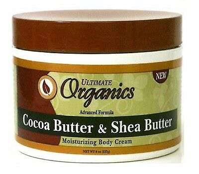 Ultimate Organics Cocoa Butter and Shea Butter Moisturising Body Cream 227g