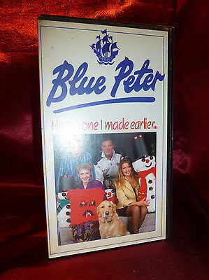 "Rare OOP BLUE PETER ""Here's One I Made Earlier"" BBC Children's VHS Video 1989"