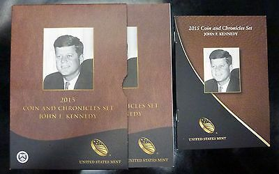 {BJSTAMPS} 2015 John F Kennedy Coin and Chronicles Set  JFK