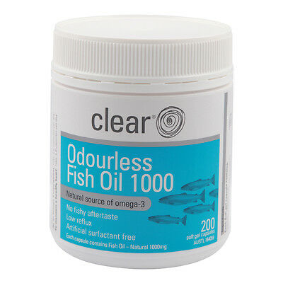 Clear Odourless Fish Oil 200's - Omega3 - Assist Joint & Heart health