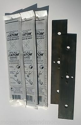 4 x GENUINE ATOM EDGER BLADE SET FITS ALL RED AND GREEN PETROL MODELS - 43105
