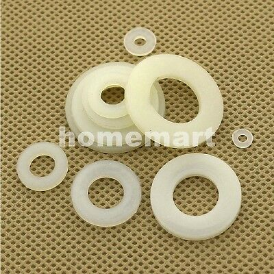 M2 - M20 Plastic Nylon Washers Insulated Washer flat gasket pad mat Bolts White
