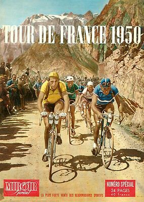 Cycling Poster Vintage French Retro Tour de France '50 Print Kübler Quality Gift