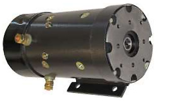 Motor for Monarch Road Machinery Replacing Monarch 8089, 8106 Slotted Shaft 24V