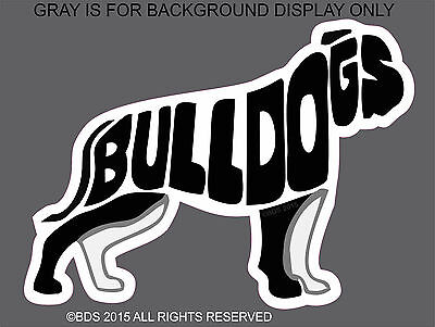 American Bulldog Word Silhouette Vinyl Sticker Decal