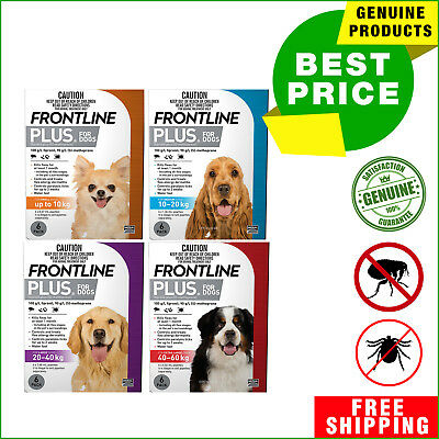 Frontline Plus for Dogs All sizes 6 Pipettes Flea Tick Treatment by Merial