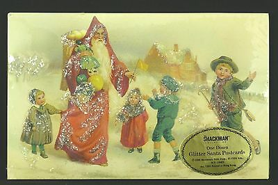 NIP 12 Vintage 1988 Merrimack Santa Belsnickle Christmas Postcards Antique Repro