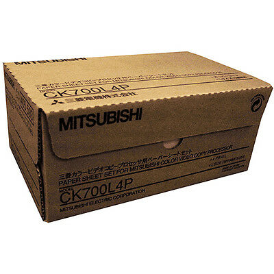 Mitsubishi CK700L4P 4 Panel Roll and Ink Ribbon for CP-700 Series Printers