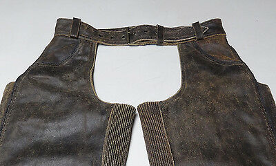 Awesome Harley Davidson Billings Distressed Brown Leather Chaps Medium Med  26