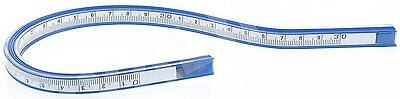 """COX 30 cm 12"""" FLEXIBLE PLASTIC VINYL CURVE RULER DRAWING DRAFTING FRENCH CURVE"""
