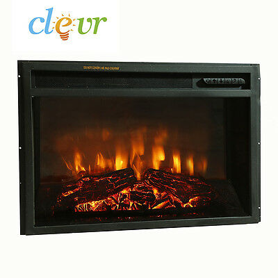 "Clevr 26"" 1400W Adjustable Electric Wall Insert Mirror Fireplace Heater W/Remote"