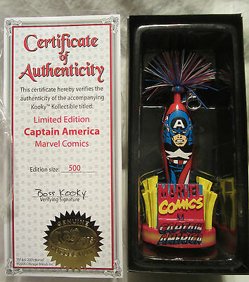 Marvel Comics Captain America Kooky Kollectible Pen Limited Edition 1 of 500