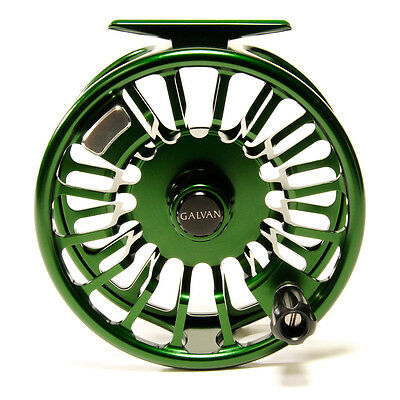 Galvan T-10 Torque 10 Fly Reel Green For A 10/11 Wt. Rod Usa Made Free $100 Line