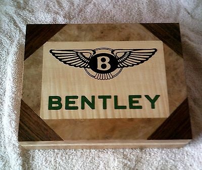 Bentley Logo - Solid Wood Jewellery Box