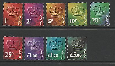 GB 1994 Postage dues SGD102-D110 lightly mounted mint set stamps cat £45