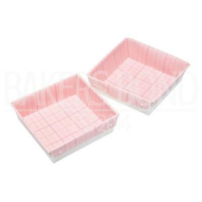 Pack of 2 Square Marshmallow Rocky-road Flapjack Pans Oven Safe Disposable Mould