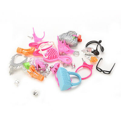 Gift Pack Doll Accessories Jewellery Bag for Barbie Necklace Combs Shoes CSP