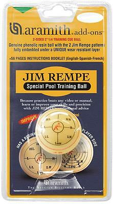 New Aramith Jim Rempe Training Cue Ball Pool Ball Trainer * In Original Package!