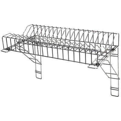 "Stainless Steel Catering Plate Rack & 2 Wall Brackets 90cm / 36"" Restaurant"