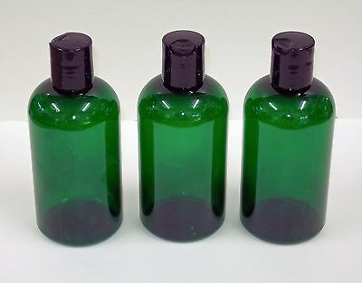"Amber/Green  Boston Round Plastic ""PET""  Bottles w/dispensing cap"