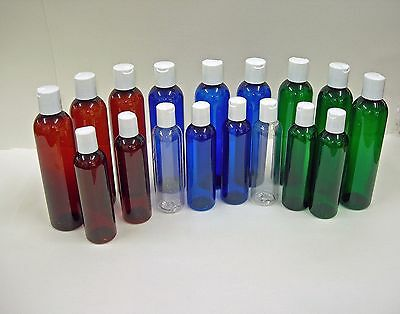 Cosmo Pet Plastic Bottles w/Dispensing Cap  U Pick Color & Qty. & Size