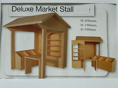 (M2.13) Dolls House Plywood 1/12Th Part Built Deluxe Market Stall