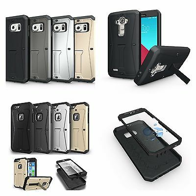 Heavy Duty Hybrid Armor Tank Stand Case With Built In Screen Protector