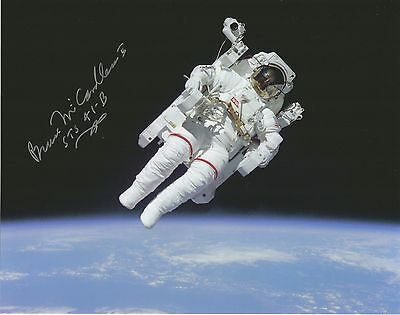 Bruce McCandless NASA space shuttle astronaut hand signed & cert UACC AFTAL