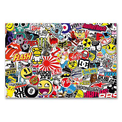 A4 Sheet Sticker Bomb Vinyl Wrap Car Bike Scooter Laptop Skate Cool Kids #6166