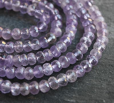 """Amethyst 8x5mm hand faceted rondelle abacus beads.15.5"""" strand (~70 beads) SP16"""