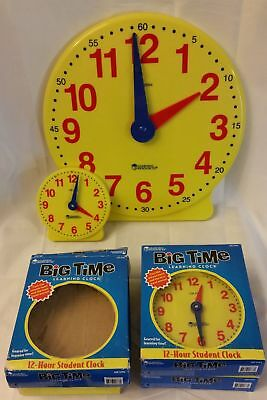 11 Pack LEARNING RESOURCES BIG TIME CLOCK STUDENT 12 HR 5, Very Good