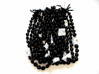 Leis Beautiful Hawaiian Black Kukui Nut Leis Lot of 10  NEW