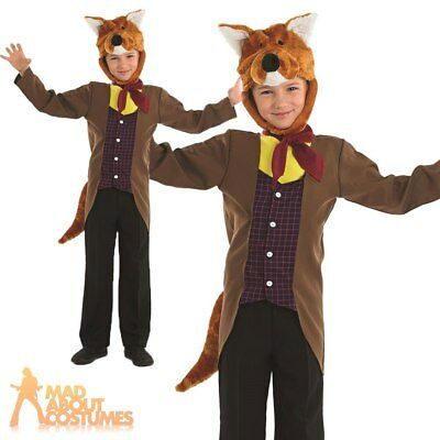 Boys Fantastic Mr Fox Costume Child Book Day Animal Fancy Dress Outfit