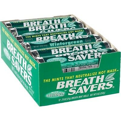 X24 Rolls Of Wintergreen Breath Savers Candy Mints