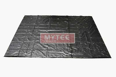 Mytee Products Flatbed Truck Tarps 18oz Steel Tarp 16' x 27' - Black