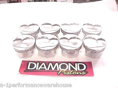 "Diamond 18° Forged Gas Ported Pistons 4.151""-1.062 CH -927 SB Chevy LA12"