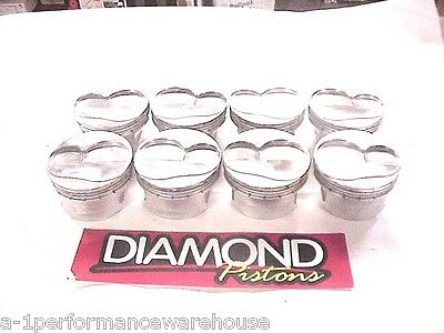 "Diamond 18° Forged Gas Ported Pistons 4.151""-1.062-927 SB Chevy LA12"