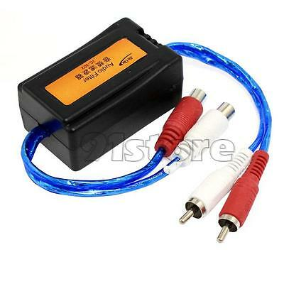 JC-302 Car Auto Vehicle RCA Male to Female Cable Audio Noise Filter Adapter SR1G