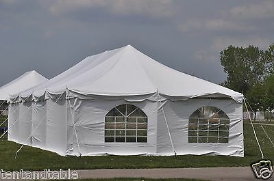 20x40 White Pole Tent Economy Party Tents Frame 4 Sidewalls FREE SHIPPING SALE