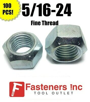 (Qty 100) 5/16-24 All Metal Top Crimping Cone Lock Nut Grade 8 / C Zinc Plated