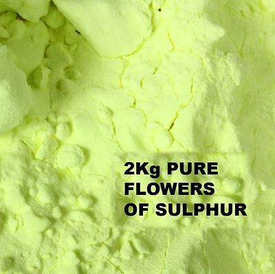 FLOWERS OF SULPHUR POWDER 2Kg - SUBLIMED 99.99 % HIGH PURITY - HEALTH REMEDY