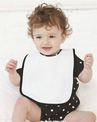 Rabbit Skins Infant Terry Snap Bib w/ Contrast Color Binding Baby Bib 1003 NEW!