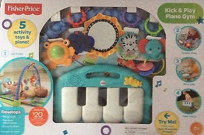 Brand New Fisher Price DISCOVER 'N GROW KICK & PLAY PIANO GYM Many Ways To Play